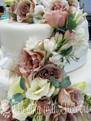 wedding cake flowers bridal florist